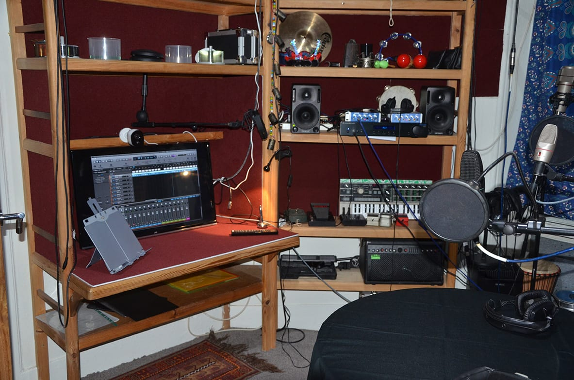view of offbeat recording studio voice over booth