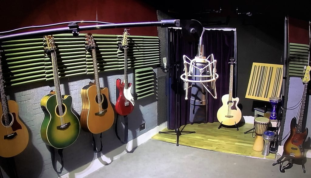 offbeat recording room